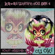 Kawaii Unicirn Doll Set 4