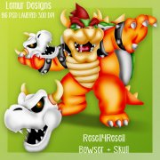 Bowser + Skull R4R SS Commission