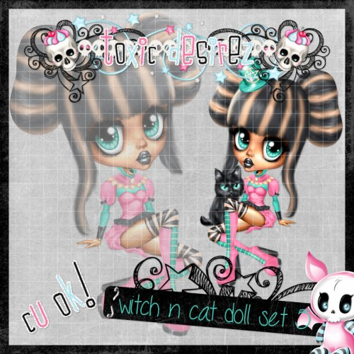 Witch N Cat Doll Set 5