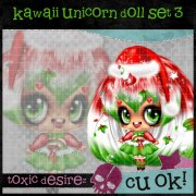 Kawaii Unicirn Doll Set 3