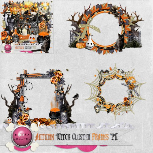 Autumn Witch Cluster Frames