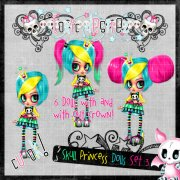 Skull Princess Doll Set 3