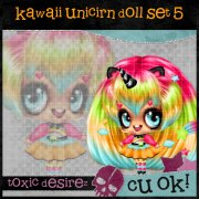 Kawaii Unicirn Doll Set 5