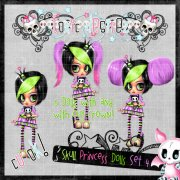 Skull Princess Doll Set 4