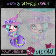 Witch & Pumpkin Set 4