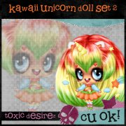 Kawaii Unicirn Doll Set 2