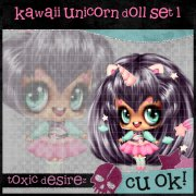 Kawaii Unicirn Doll Set 1