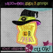 CU Halloween Sign 3 Script