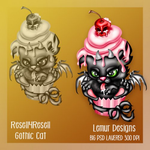 Gothic Cat R4R SS Commission