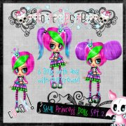 Skull Princess Doll Set 2